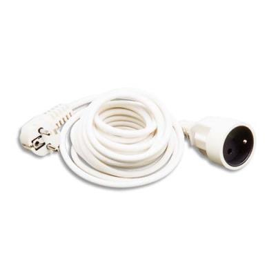 Rallonge électrique lisse 5m blanc
