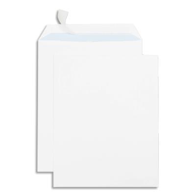 Boîte de 250 pochettes auto-adhésives GPV - velin blanc - 90g - format 260x330 (photo)