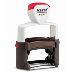 Tampon Trodat 5200 personnalisable - utilisation intensive - format 41x24 mm (photo)