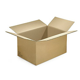 Caisse carton brune - simple cannelure - 60 x 40 x 30 cm - lot de 20 (photo)