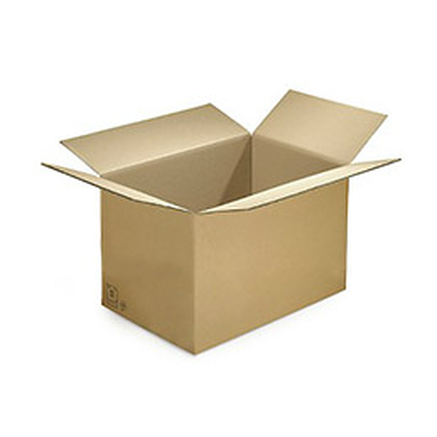 Caisse carton brune - simple cannelure - 60 x 40 x 40 cm - lot de 20 (photo)