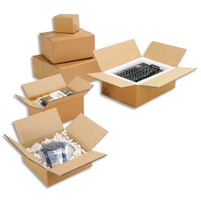 Caisse carton brune - double cannelure - 50 x 40 x 30 cm - lot de 10 (photo)