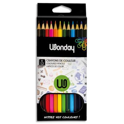 Etui de 12 crayons de couleur JPC - coloris assortis