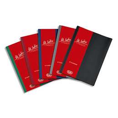 Protège-documents Elba Le lutin - 20 pochettes/40 vues - assortis moyen - couverture PVC 34/100e - pochettes PVC 5.5/100e