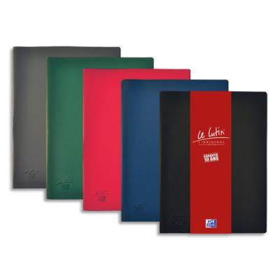 Protège-documents Elba Le lutin - 50 pochettes/100 vues - assortis moyen - couverture PVC 34/100e - pochettes PVC 5.5/100e