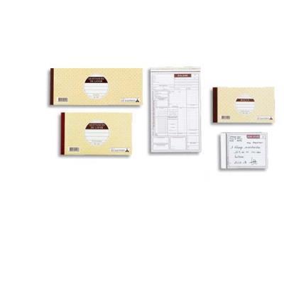 Carnet traite à souche 10.1 x 27 cm 50 feuillets (photo)