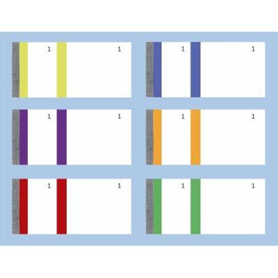 Bloc vendeur Elve - 100 feuillets numérotés 6 x 13,5 cm - 1 coupon détachable - coloris assortis (photo)
