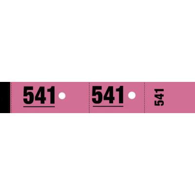 Ticket de vestiaire - 3 x 20 cm - rose - bloc de 50 tickets