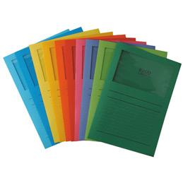 Pochettes coins Exacompta Forever - papier 120 g - format 22x31 cm avec fenêtre cristal 18x10 cm - coloris assortis - paquet de 100