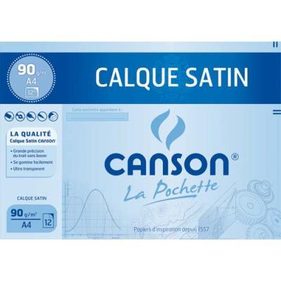 Papier calque Canson 17154 - A4 - 90g - uni - pochette de 12