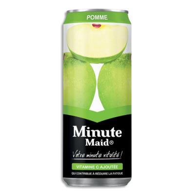Jus de fruit Minute Maid pomme - canette 33 cl (photo)