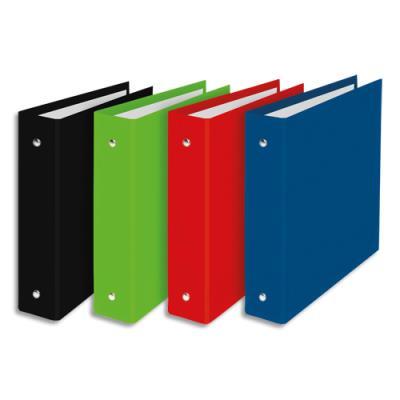 Classeurs 2 anneaux Elba carton pelliculé - dos 4 cm - format A5 17 x 22 cm - coloris assortis