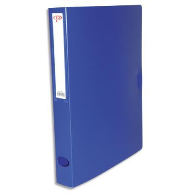 Boîte de classement - dos de 4 cm - en polypropylène 7/10e - fermeture clip - bleu (photo)