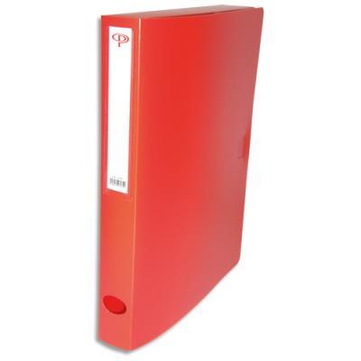 Boîte de classement - dos de 4 cm - en polypropylène 7/10e - fermeture clip - rouge (photo)