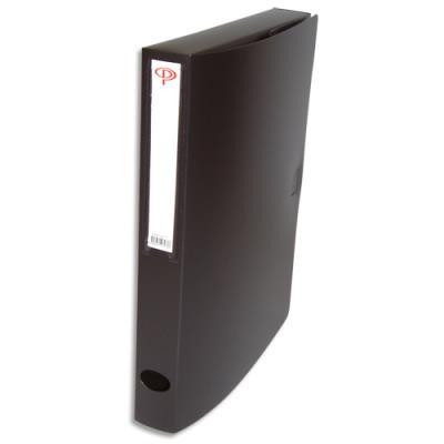 Boîte de classement - dos de 4 cm - en polypropylène 7/10e - fermeture clip - noir (photo)