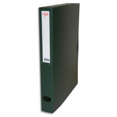 Boîte de classement - dos de 4 cm - en polypropylène 7/10e - fermeture clip - vert (photo)
