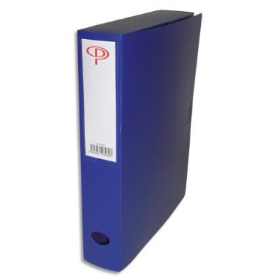 Boîte de classement - dos de 6 cm - en polypropylène 7/10e - fermeture clip - bleu (photo)