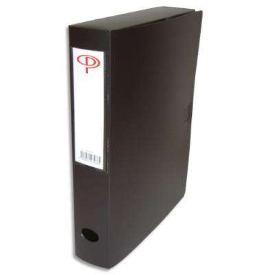 Boîte de classement - dos de 6 cm - en polypropylène 7/10e - fermeture clip - noir (photo)