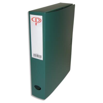 Boîte de classement - dos de 6 cm - en polypropylène 7/10e - fermeture clip - vert (photo)