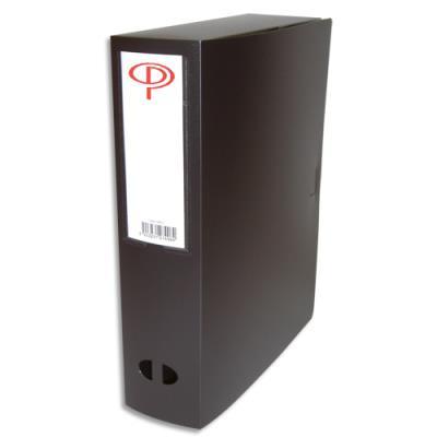 Boîte de classement - dos de 8 cm - en polypropylène 7/10e - fermeture clip - noir (photo)
