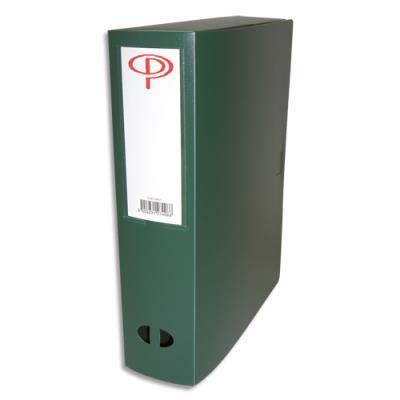 Boîte de classement - dos de 8 cm - en polypropylène 7/10e - fermeture clip - vert (photo)