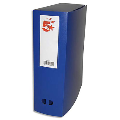 Boîte de classement - dos de 10 cm - en polypropylène 7/10e - fermeture clip - bleu (photo)