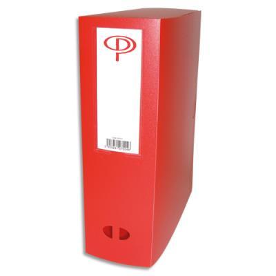 Boîte de classement - dos de 10 cm - en polypropylène 7/10e - fermeture clip - rouge (photo)