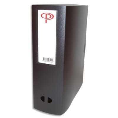 Boîte de classement - dos de 10 cm - en polypropylène 7/10e - fermeture clip - noir (photo)