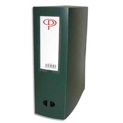 Boîte de classement - dos de 10 cm - en polypropylène 7/10e - fermeture clip - vert (photo)