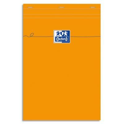 Bloc de direction agrafé Oxford - 80 g - 21 x 32cm - 160 pages - couverture orange (photo)