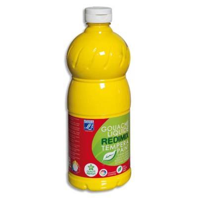 Gouache liquide - 1 litre - Color & Co - Jaune primaire Ecole