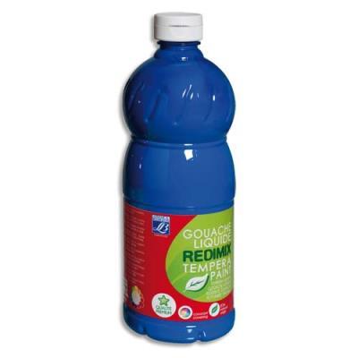 Gouache liquide - 1 litre - Color & Co - Bleu primaire Cyan Ecole