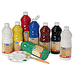 Gouache liquide - 1 litre - Color & Co - Noir Ecole (photo)