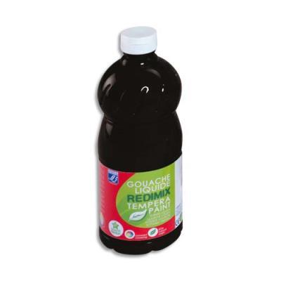 Gouache liquide - 1 litre - Color & Co - Noir Ecole