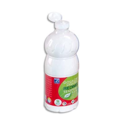 Gouache liquide - 1 litre - Color & Co - Blanc Ecole