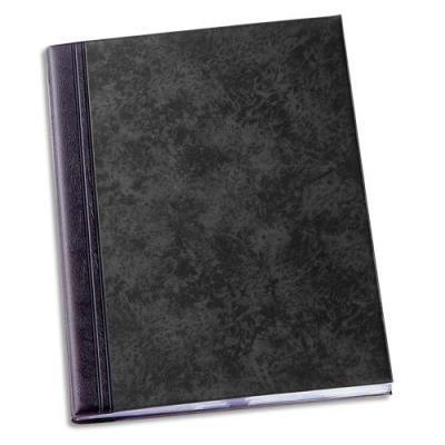 Protège-documents 50 pochettes/100 vues Elba Fusio Elégance - couverture PVC expansé 10/10e - pochettes PVC 5.5/100e - noir