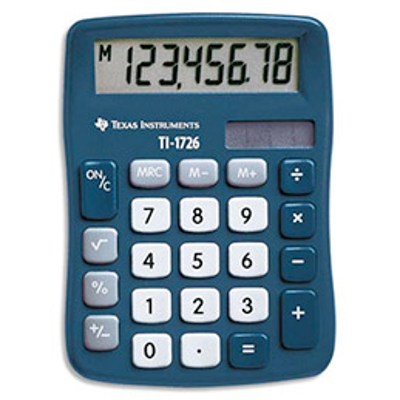 Calculatrice de poche TI 1726 - 8 chiffres