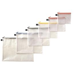 Pochette Zippée PVC renforcé - 30x40 cm - semi-transparente (photo)