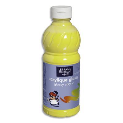 Acrylique  brillante - 500ml - Glossy Color& Co - Jaune primaire (photo)