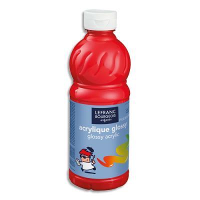 Acrylique  brillante - 500ml - Glossy Color& Co - Rouge Vif (photo)