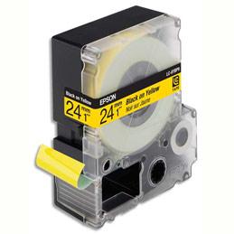 Cassette Epson pour LW-900P - LC6YBP9 Couleur Pastel Noir sur Jaune 24/9 C53S627401 (photo)