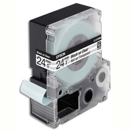 Cassette Epson pour LW-900P - LC6TBN9 Transparent Noir sur Transparent 24/9 C53S627403 (photo)