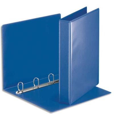 Classeur personnalisable deux faces Esselte - 4 anneaux - PVC bleu - A4 - dos 5 cm