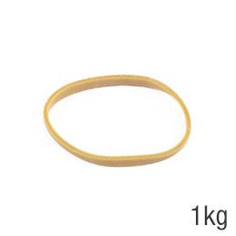 Elastiques - sac de 1kg de caoutchouc blond - format : 70x5mm