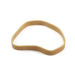 Elastiques - boite distributrice de 100g de caoutchouc blond - format: 120x10mm
