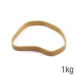 Elastiques - sac de 1kg de caoutchouc blond - format : 120x10mm