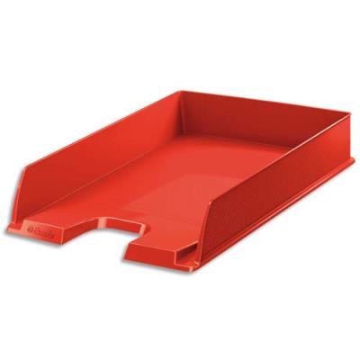 Corbeille à courrier Esselte Vivida - superposable - 25,4 x 6,1 x 35 cm - rouge