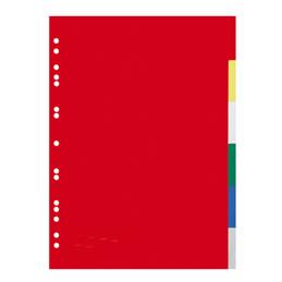 Intercalaires - polypropylène 12/100ème - A4 - couleurs assorties - jeu de 6 (photo)