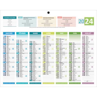 Calendrier 2022 thème 4 saisons - format 21 x 26,5 cm - 7 mois par face