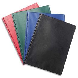 Protège document Exacompta VEGA - 20 pochettes/40 vues - couverture PVC 3/10 - coloris assortis opaque (photo)